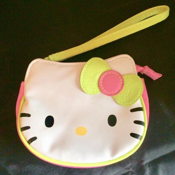 9d15dae0b Hello Kitty Bags | Bogo Pink White Wristlet | Poshmark